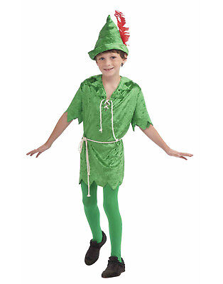 Peter Pan Boys Child Green Fairytale Lost Boy Halloween Costume