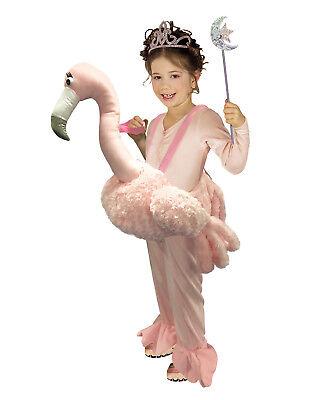 Darauf Reiten Flamingo Mädchen Kind Pink Plüschtier Halloween Kostüm ()