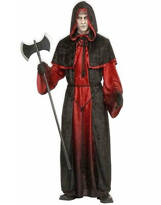 Demon Robe Mens Adult Devil Grim Reaper Halloween Costume-Std
