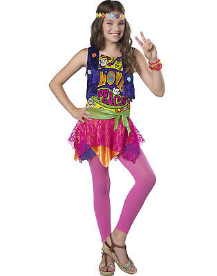 80's Chick Halloween Costumes (Groovy Girl Girls Child Hippie 80S Chick Halloween)