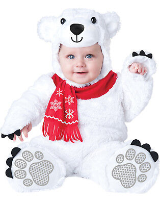 Polar Bear Halloween Costumes (Lil' Polar Bear White Baby Bear Infant Christmas Halloween)
