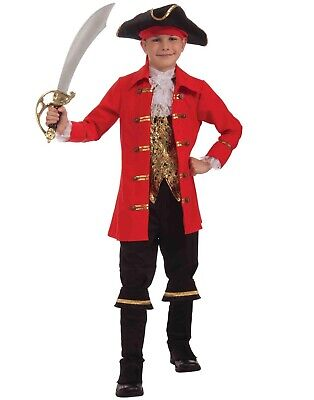 Childs Pirate Buccaneer Captain Peter Pan Boys Costume - Small (Peter Pan Costumes For Boys)