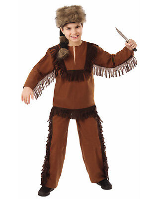 Davy Crockett Costumes (Davy Crockett Boys Child Wild Explorer Frontiersman)