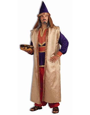 Adulto Biblica Granato Rosso Magi Natività Pastore Chiesa Costume per Uomo