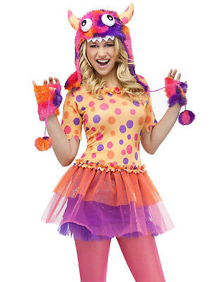 Orange Monster Fluffy Monsters University Teen Girl Halloween Costume Junior 0-9](Monster University Costumes)