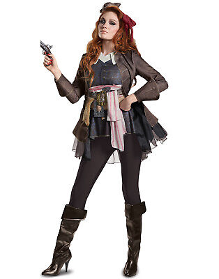 Disney Pirates Of The Caribbean 5 Jack Sparrow Adult Womens Deluxe Costume