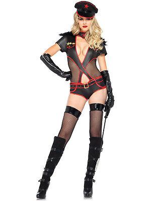 Sexy Schwarz Hinten Admiral Militär Armee General Teddy Body Halloween Kostüm ()