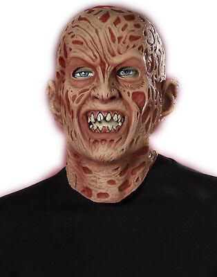 Freddy Krueger Latex Maske (Freddy Krueger 3/4 Latex Adult Mask Nightmare On Elm Street Halloween Mask)