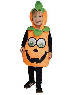 Orange Pumpkin Googly Toddler Halloween Animal Costume Tunic