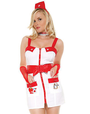 Love Doctor Naughty Nurse Role Play Sexy Womens Lingerie Halloween Costume