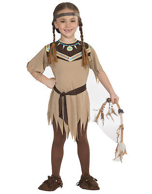 Native American Indian Princess Pocahontas Girls Halloween Costume Outfit - Pocahontas Halloween Costume For Girls