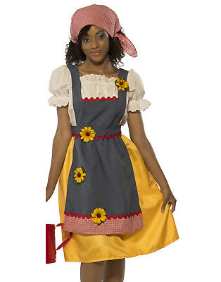 Farmers Wife Women Country Market Trader Halloween Costume-Std