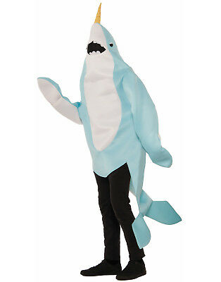 Narwhal Whale Sea Creature Adult Mascot Halloween - Sea Creature Halloween Costumes