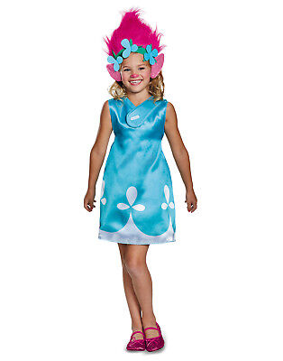 Trolls Movie Classic Poppy Girls Halloween Costume With Headband - Classic Halloween Costumes For Girls
