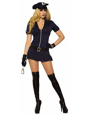 Sexy Cop Womens Adult Blue Police Officer Halloween Costume](Police Officer Costumes For Women)