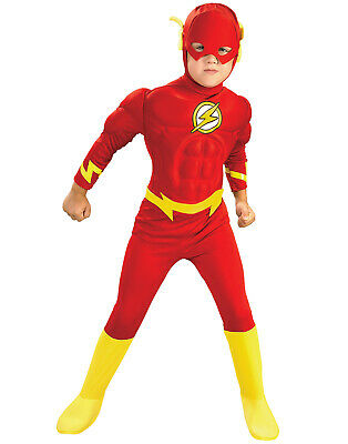 The Flash Dc Comics Jungen Muskel Deluxe Kostüm Kinder Halloween Kostüm Maske