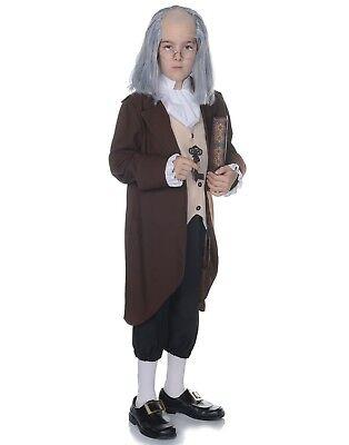 Ben Franklin Boys Child Presidential Victorian Halloween Costume