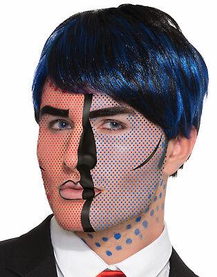 Pop Art Comic Character Temporary Face Tattoo Costume Accessory](Pop Art Character Costume)