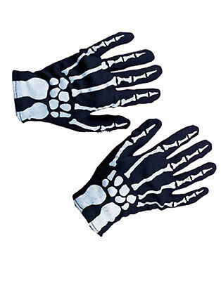 Skeleton Hands Black Bones Jack Skellington Kids Halloween Costume Gloves Child](Jack Skellington Halloween Costume Child)