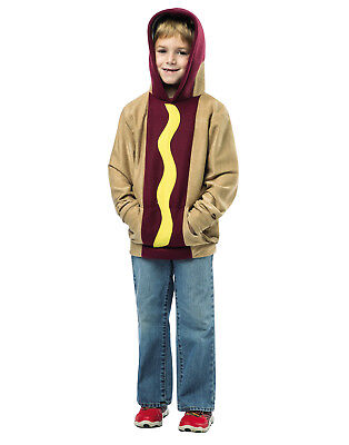 Hot Dog Kapuzenpulli Kinder Lustig Essen Halloween Kostüm Sweatshirt - Männliche Kostüm Hot