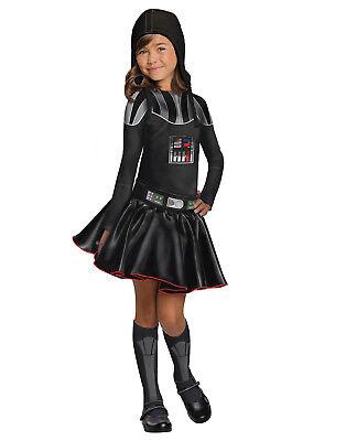 Star Wars Child Darth Vader Girls Superhero Fancy Dress Halloween Costume M-L