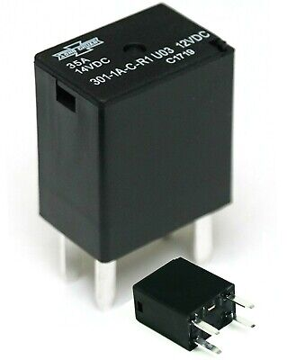 Song Chuan 301-1a-c-r1-u03 12vdc Micro 280 Spst 35a Relay Pack Of 2