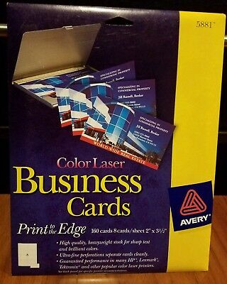 Avery Business Cards Color Laser 5881