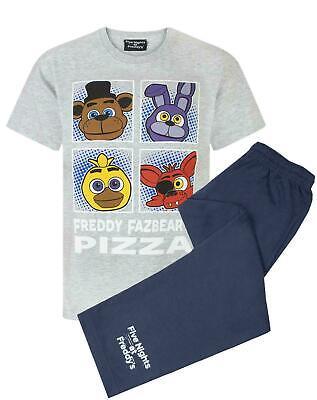 Five Nights At Freddy's Panels Freddy Fazbear Grey Blue Boy's Pyjamas