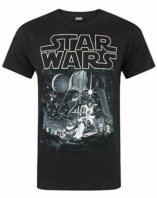 Star Wars A New Hope Official Poster Men's Character T-Shirt