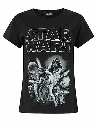 Star Wars Classic Black Short Sleeve Girl's T-Shirt