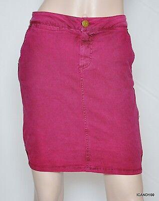 Marc by Marc Jacobs Dyed Stretch Pigment Pop Denim Mini Skirt Fig Jam 2 Nwt $188