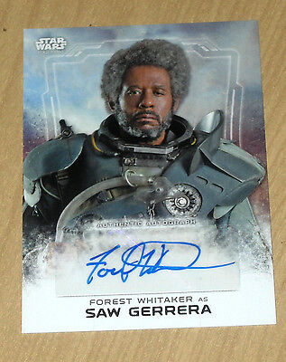 2016 Topps Star Wars Rogue One 1 autograph Forest Whitaker as SAW GERRERA