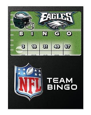 PHILADELPHIA EAGLES OFFICIAL LICENSED NFL FOOTBALL BINGO CARDS MARKER CHIPS (Football Bingo)