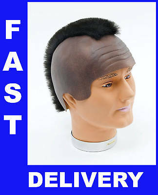 Mr T BA A Team Wig Mohican Mohawk Baracus mo hawk Black Hair 80s Free Post Stag