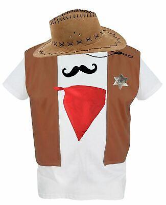 Adult 5-pcs Cowboy Woody Fancy Dress Western Costume Wild West - Woody Kostüm Weste