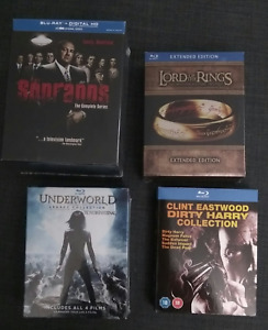 bluray collections (sopranos, lord of the rings, + more)