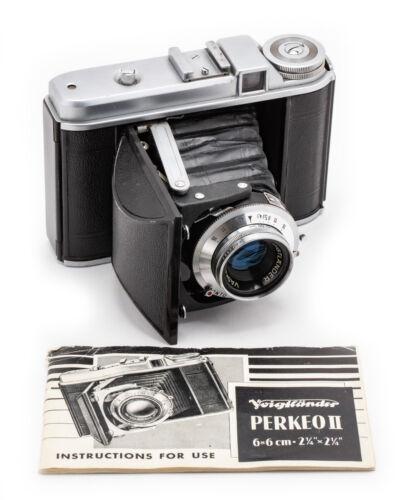 (139) Voigtländer Perkeo I 6x6 folding camera w/75/4.5, IB, beautiful, serviced
