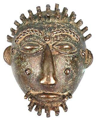 Art African - Antique Mask Passport Bronze Baoulé - African Mask - 5,8 Cm