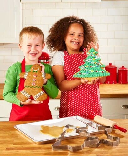 JUMBO Christmas Tree  & GIANT Gingerbread Man Cookie Cutters 10 inches Set of 2