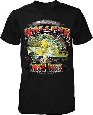 Walleye Bite This, Yellow Walleye, Gone Fishin Men's T-shirt - Gone Yellow T-shirt