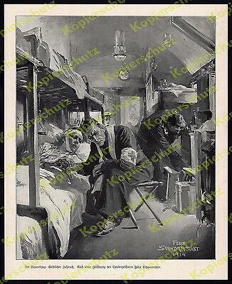 Schwormstädt Armee Lazarettzug Reichsbahn Rotes Kreuz Verwundete Pfarrer 1914!!!