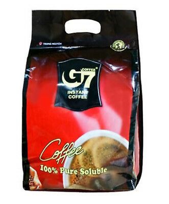 [G7] Pure Black Instant Coffee 100 SACHETS Trung Nguyen Vietnamese Coffee