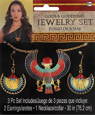 Egyptian Womens Adult Cleopatra Costume Jewelry Set - Egyptian Costume Jewelry