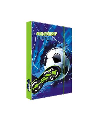 Fussball Football Soccer Fußball HEFTBOX A4 BOX 35 x 25 cm HEFT MAPPE NEU