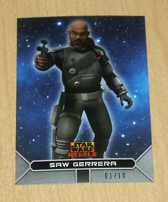 2017 Topps Star Wars Rebels On Demand SILVER parallel SAW GERRERA 15S 1/10