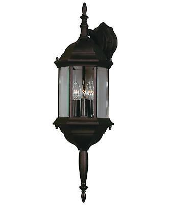 Custom Fit Outdoor Patio - Custom Fit Black 3 Light Glass Lampshaped Wall Lantern, Outdoor, Patio, Deck