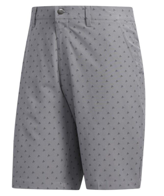New 2020 Adidas 365 Badge Of Sport Novelty Print Golf Shorts - Gray- MSRP $75