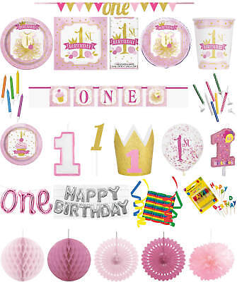 Kindergeburtstag Geburtstag Party Deko Fete Motto Goldiger 1. Geburtstag Mädchen