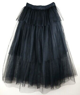 Women In Tutus (Christian Dior Tiered Tulle Tutu Skirt in Black FR 40 / US)