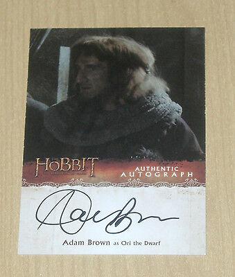 2015 Cryptozoic Hobbit Desolation Smaug autograph Adam Brown as ORI the dwarf